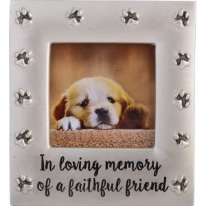 dog loss photo frame