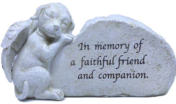 dog loss garden memorial figurine