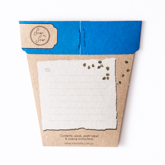 Forget me not seeds memorial pet loss back of packaging