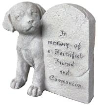 Dog loss memorial stone
