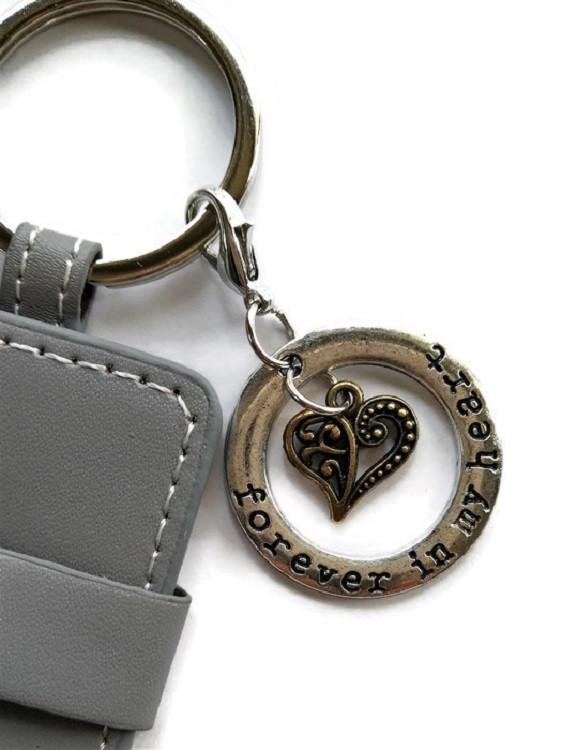pet loss memorial photo key chain forever in my heart charm