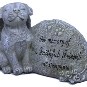 in memory dog loss memorial figurine ornament