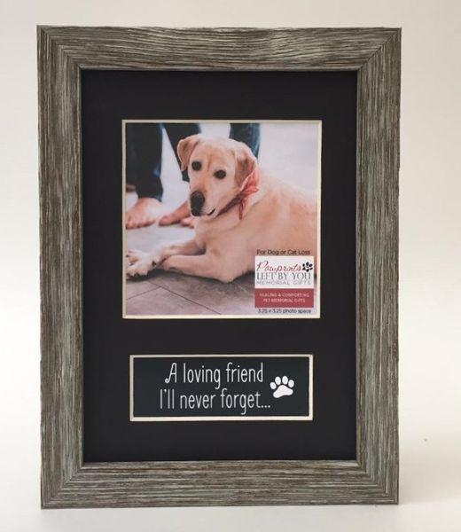 loving friend photo memorial pet loss frame