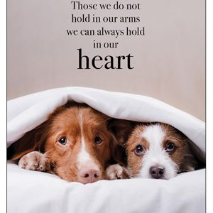 hold in our heart pet loss sympathy card