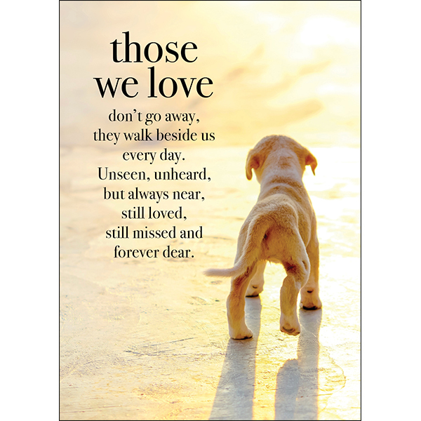 those we love pet loss sympathy card
