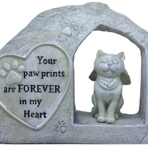 paw print cat loss memorial ornament