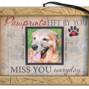 paw prints left by you photo memorial pet loss ornament