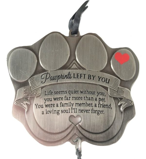 Pawprints left by you windchime paw front