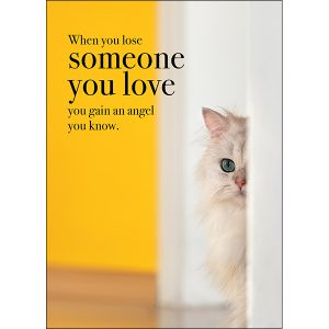 someone you love pet loss sympathy card